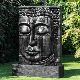 Grande Fontaine extérieur mur d'eau visage de Bouddha 1 m 80