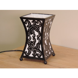 Lampe en acier cintrée blanc 20 cm