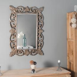 Miroir Cordoue en bois patiné bronze 100 x 70