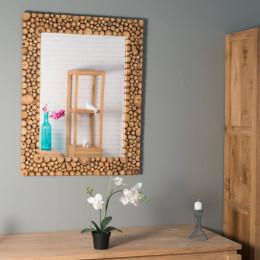 Grand miroir teck r tro 120 x 70 for Miroir teck 50 x 70