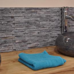 Parement en pierre naturelle marbre brut gris noir