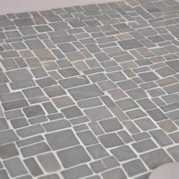 Revêtement mosaïque en pierre marbre gris