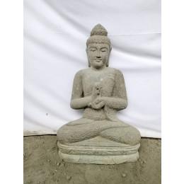Statue de jardin Bouddha en pierre position Chakra 80 cm