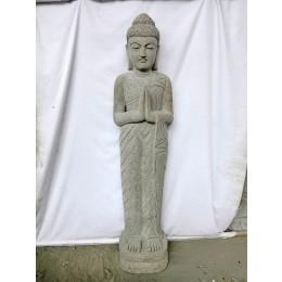Statue en pierre Bouddha debout prière 1m50
