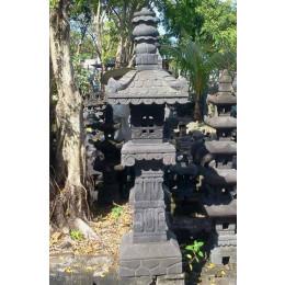 Temple pagode balinaise en pierre de lave 1.70 m