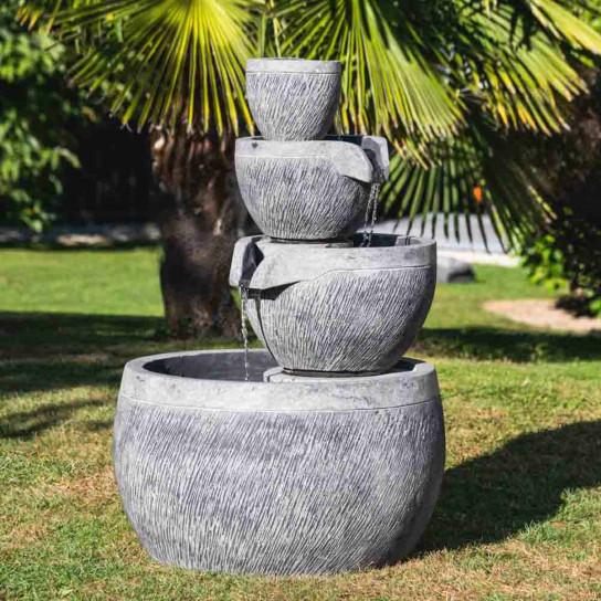 fontaine de jardin zen ronde