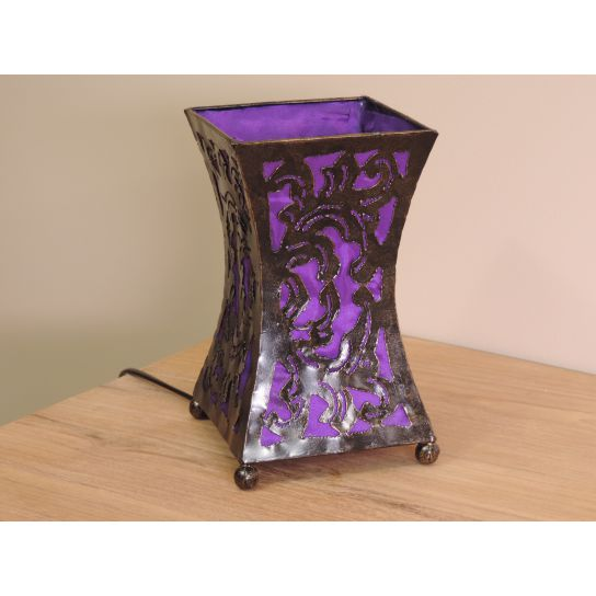 Lampe en acier cintrée violet 20 cm