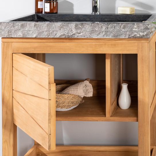meuble en teck massif cosy vasque miroir pictures to pin. Black Bedroom Furniture Sets. Home Design Ideas