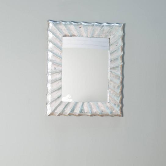 Miroir moderne Alicante en bois finition argenté métal 50 X 60