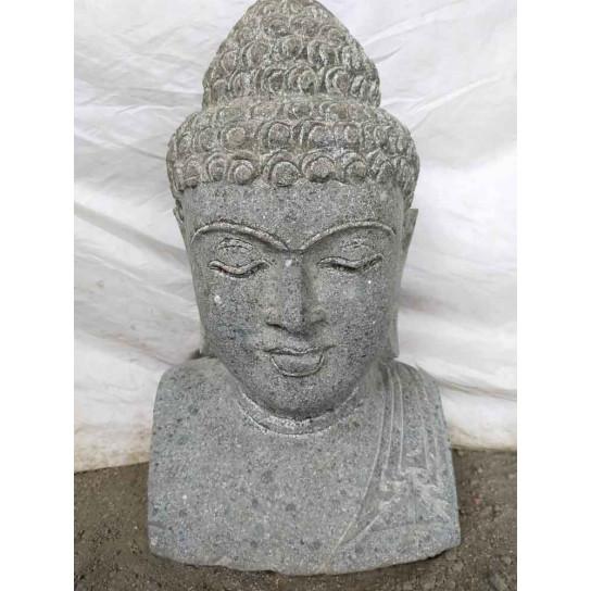 Statue De Jardin Buste De Bouddha En Pierre Naturelle