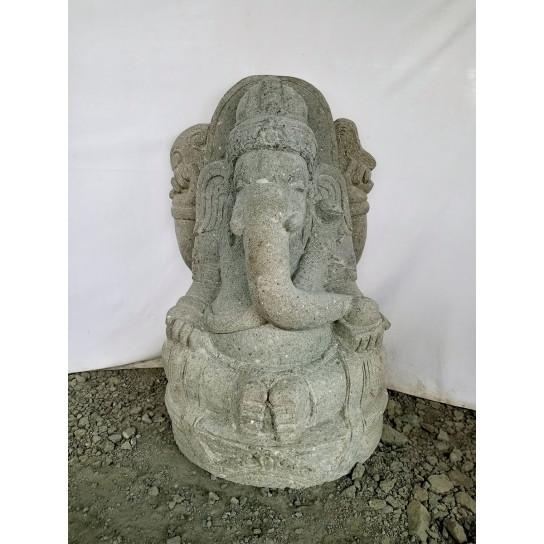 Statue de jardin en pierre ganesh indouhisme jardin zen 1m for Statue de jardin en pierre