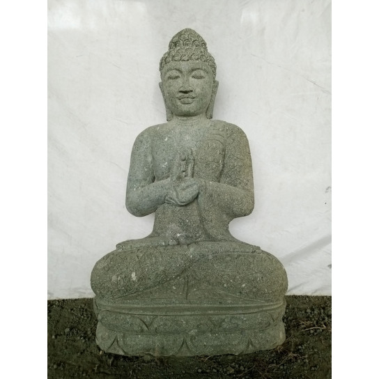 Statue de jardin zen bouddha pierre en chakra 1m for Statue de jardin en pierre