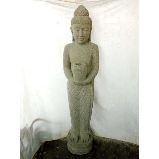 statue en pierre volcanique bouddha debout chakra 1m50. Black Bedroom Furniture Sets. Home Design Ideas
