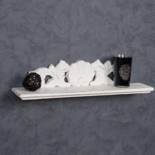 Tablette Baroque blanc 50 cm