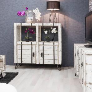 Buffet de salon en mindi LOFT blanc 114 cm