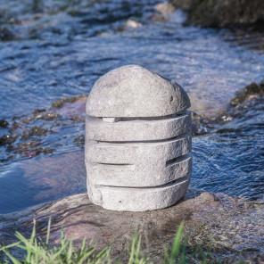 Lampe de jardin en pierre de rivière 30-35cm