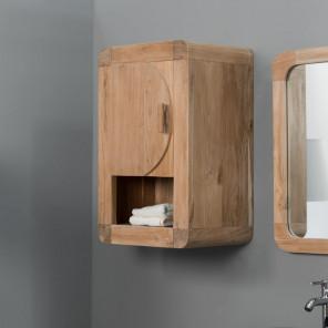 Meuble de salle de bain Armoire de toilette en teck rétro 44cm