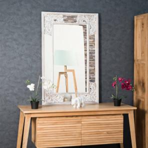 miroir en bois cérusé Mathilde