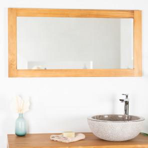 Miroir miroir de salle de bain en bois de teck massif - Miroir articule salle de bain ...