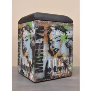 Pouf box Marilyn Monroe Vintage et industrielle