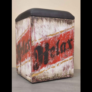 Pouf box Vintage et industrielle