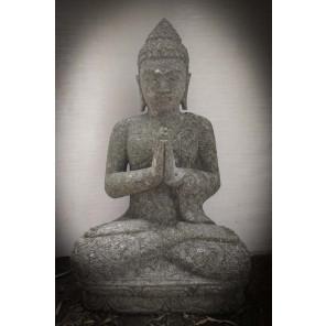 Statue de Bouddha assis de jardin position prière 80cm
