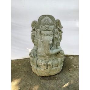 Statue de jardin en pierre Ganesh jardin indouhisme 100 cm