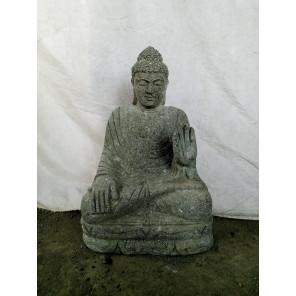 Statue en pierre de Bouddha position chakra jardin 50 cm