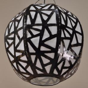 Suspension lustre en acier déco 40cm
