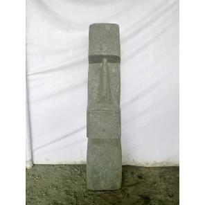 Tiki d'Océanie modèle rumbut en pierre volcanique 1 m