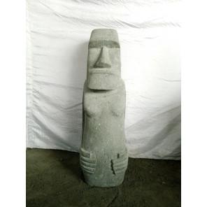 Tiki polynesien modèle rumbut en pierre volcanique jardin zen 1 m