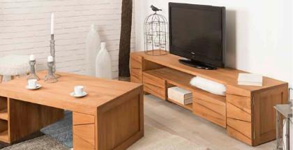 Meuble tv meuble tv de salon en bois d 39 acajou de mindi - Meuble tv suedois ...