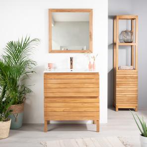 salle de bain meuble de salle de bain en bois massif exotique acajou mendi teck wanda. Black Bedroom Furniture Sets. Home Design Ideas