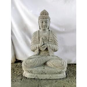 Statue en pierre jardin exterieur Bouddha position chakra 60 cm