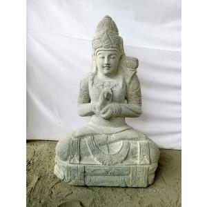 Statue extérieur zen déesse balinaise position chakra 80 cm