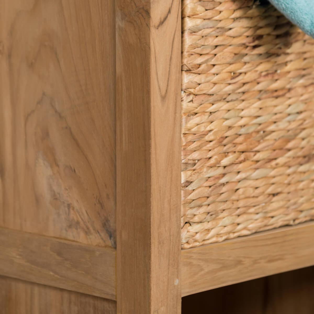 Colonne de rangement en bois (teck) massif : l : 190 cm