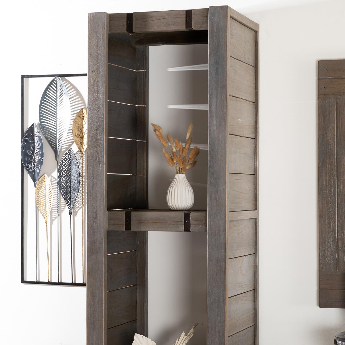 neuf colonne de salle de bain loft en bois et m tal 190. Black Bedroom Furniture Sets. Home Design Ideas