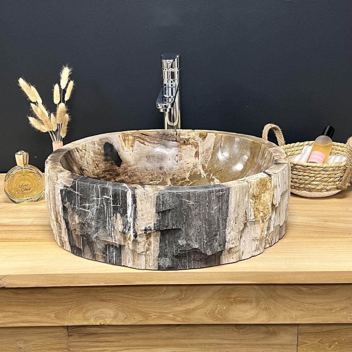 Salle de bain vasque bois avec plus de clarté fonds d'écran ...
