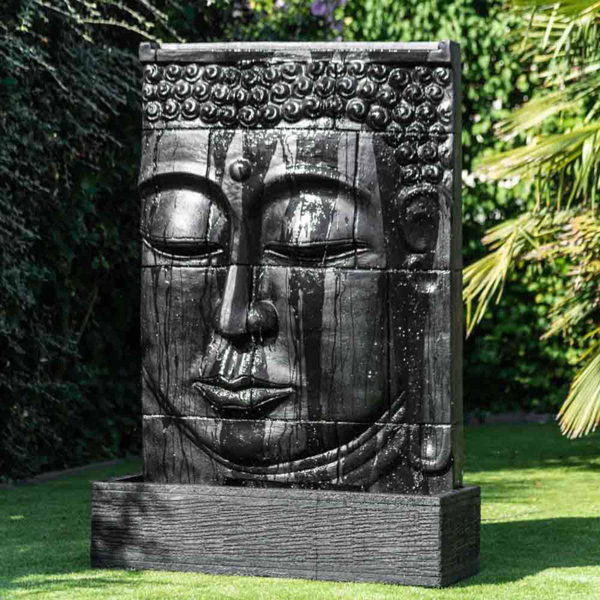 Grande fontaine ext rieur mur d 39 eau visage de bouddha 1 m 80 for Fontaine exterieur zen