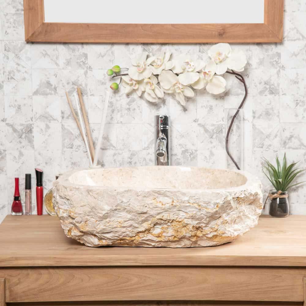 Neuf grande vasque de salle de bain poser roc en - Synonyme de salle de bain ...