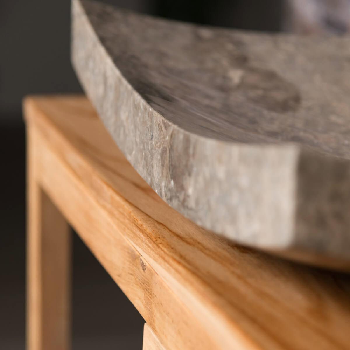 vasque poser en marbre g nes rectangle grise l 50 cm. Black Bedroom Furniture Sets. Home Design Ideas