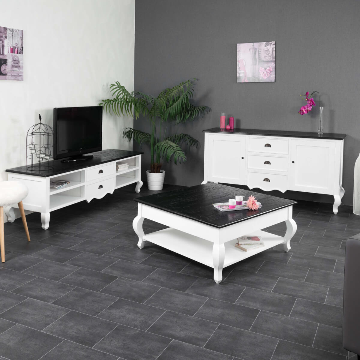 buffet de salon en bois d 39 acajou et de pin massif idao. Black Bedroom Furniture Sets. Home Design Ideas