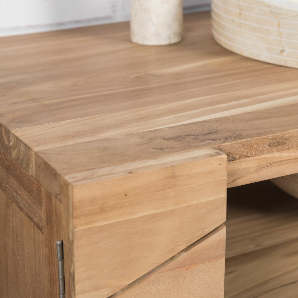 ensemble salle de bain teck. Black Bedroom Furniture Sets. Home Design Ideas