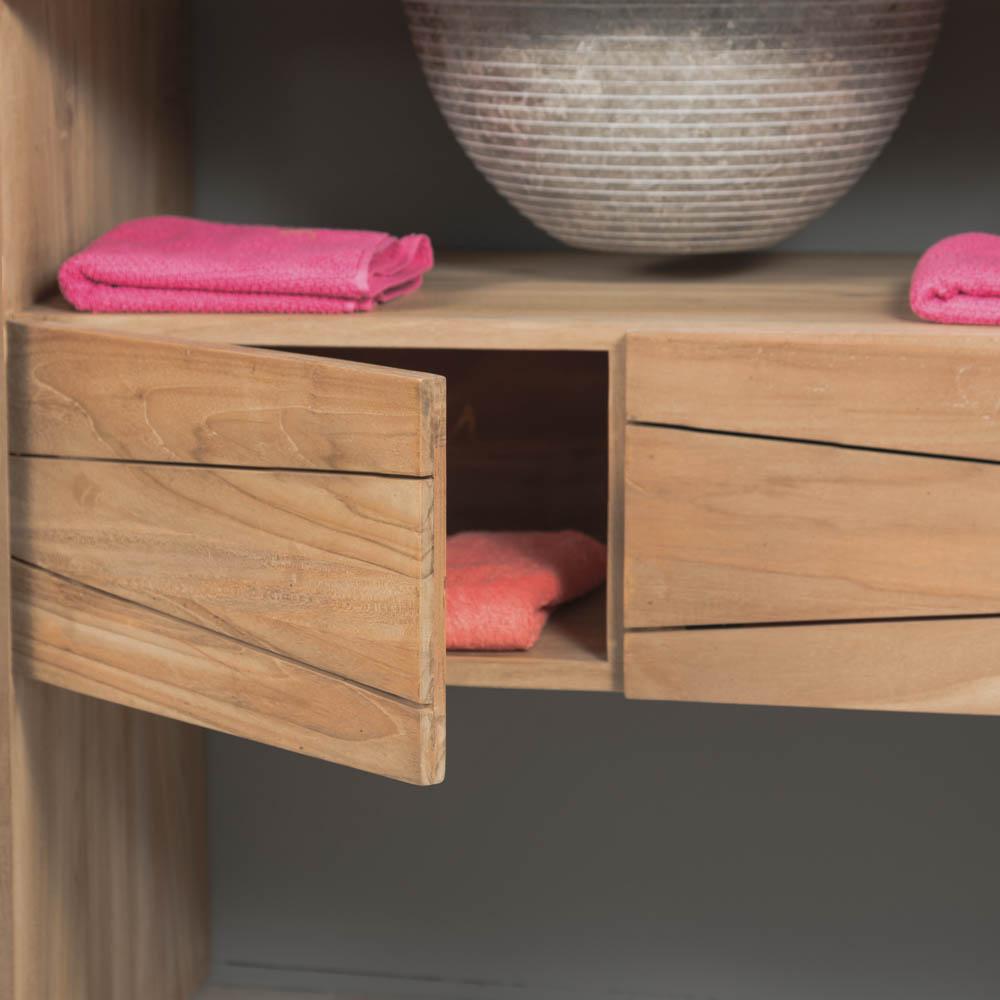 meuble sous vasque simple vasque en bois teck massif vasque en marbre s r nit naturel. Black Bedroom Furniture Sets. Home Design Ideas