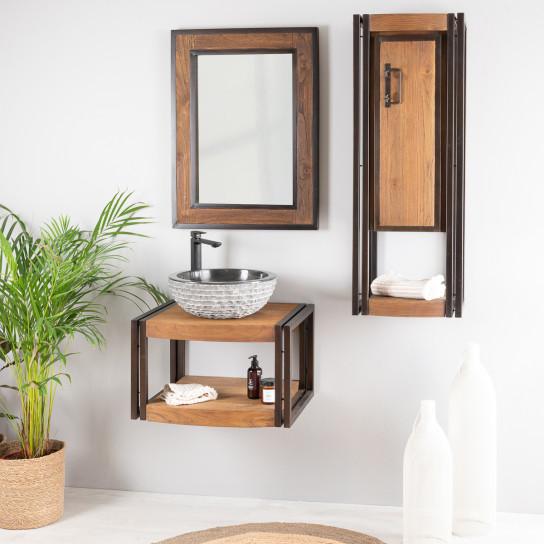meuble de salle de bain suspendu el gance 60 cm. Black Bedroom Furniture Sets. Home Design Ideas