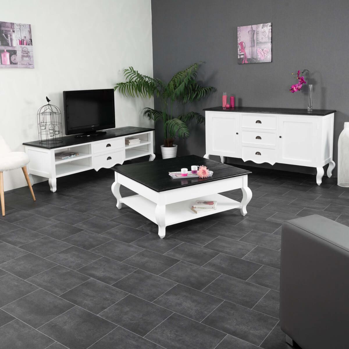 Meuble tv baroque meuble tv acajou blanc rectangle idao 170 cm - Meuble de tele but ...