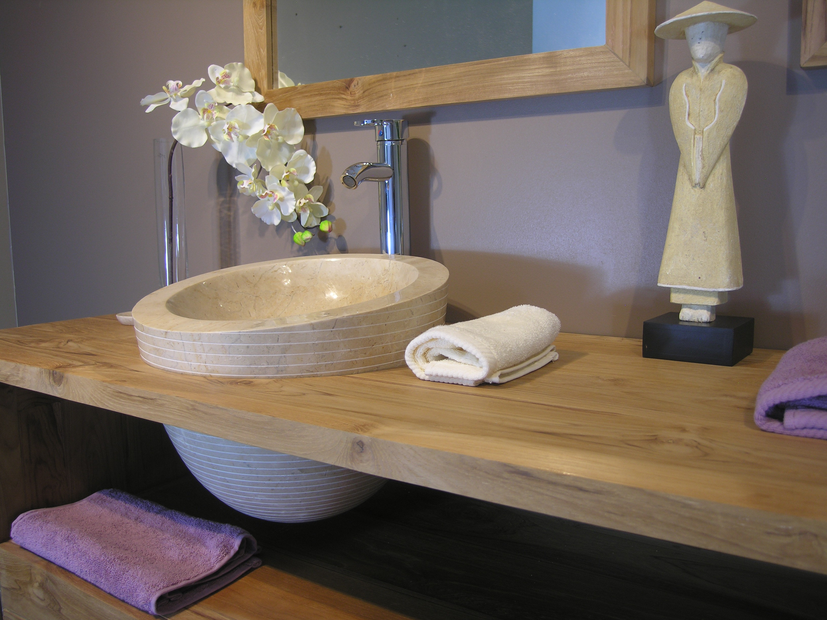 Salle de bain blanc teck – lombards