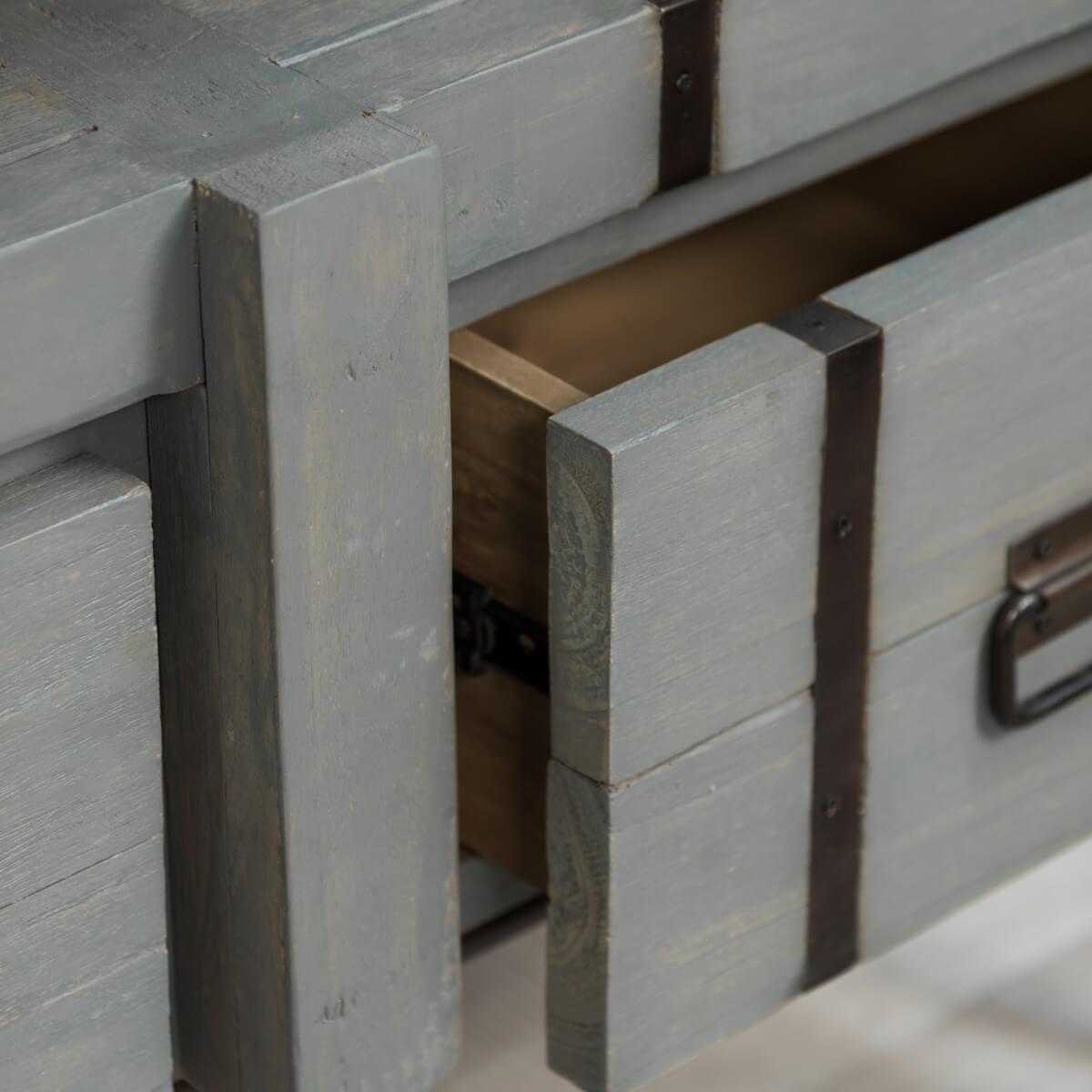 meuble sous vasque double vasque en bois mindi massif m tal loft gris l 160 cm. Black Bedroom Furniture Sets. Home Design Ideas