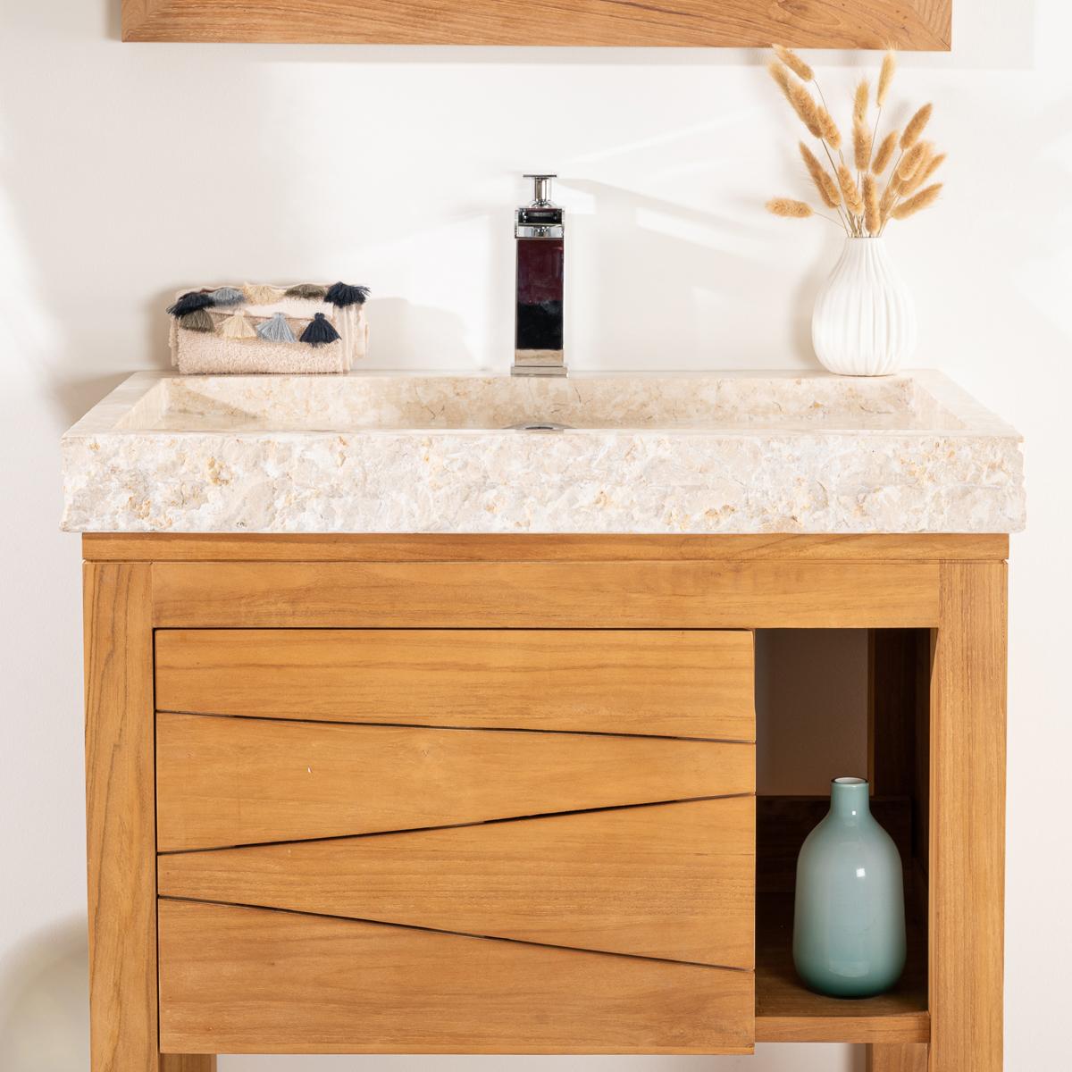 Idees darmoires de cuisine moderne for Meuble sous vasque bois 60 cm