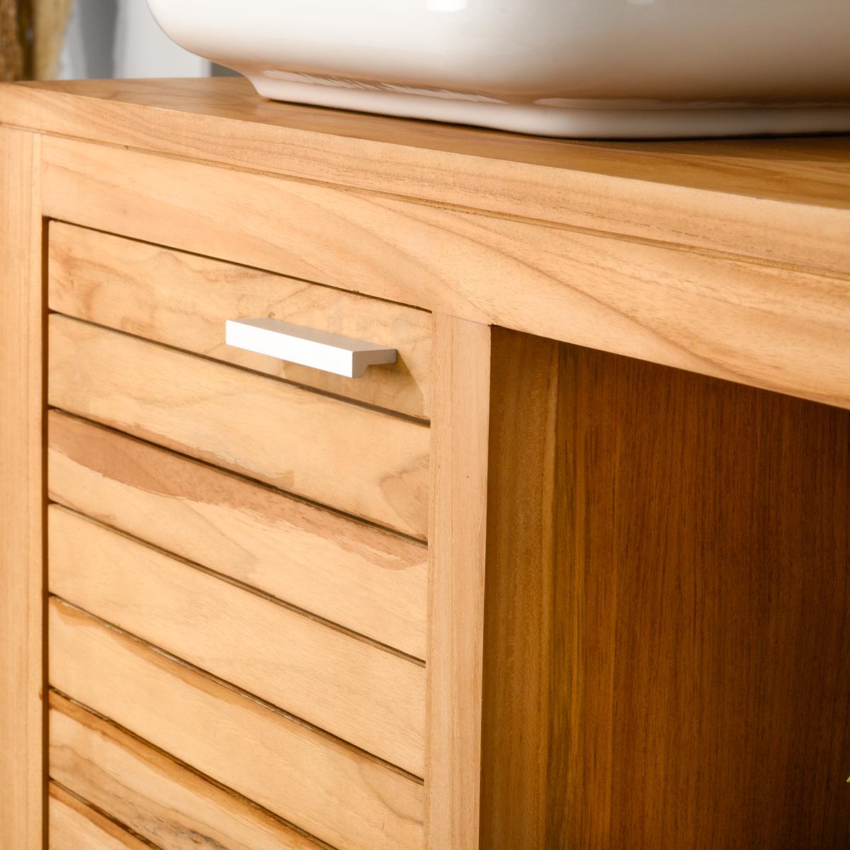 meuble sous vasque en teck les derni res. Black Bedroom Furniture Sets. Home Design Ideas